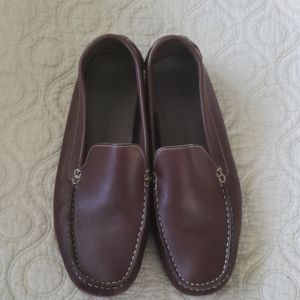 Womens Cole Haan Leather Driving Mocassin